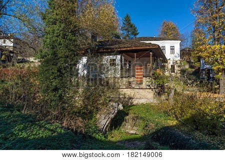 BOZHENTSI, BULGARIA - OCTOBER 29 2016:  Autumn view of village of Bozhentsi, Gabrovo region, Bulgaria