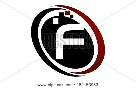 This vector describe about Technology Logo Motion Synergy Initial F