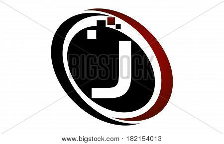 This vector describe about Technology Logo Motion Synergy Initial J