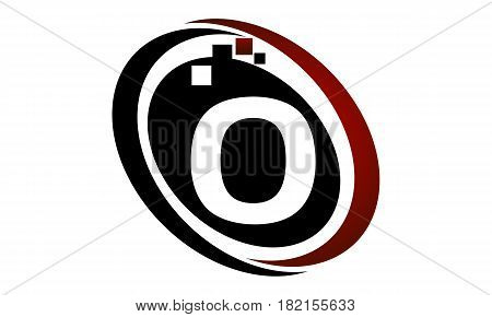 This vector describe about Technology Logo Motion Synergy Initial O