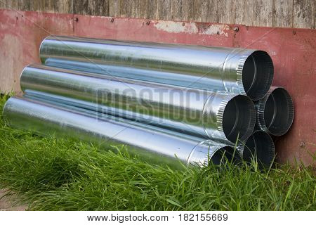 New zinc pipe yard to the roof Sewerage pipe