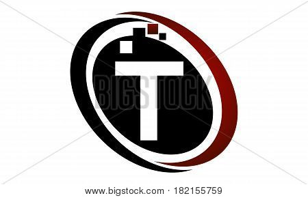 This vector describe about Technology Logo Motion Synergy Initial T
