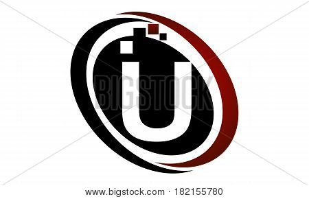 This vector describe about Technology Logo Motion Synergy Initial U