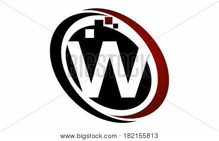 This vector describe about Technology Logo Motion Synergy Initial W