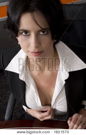 Cleavage Businesswoman