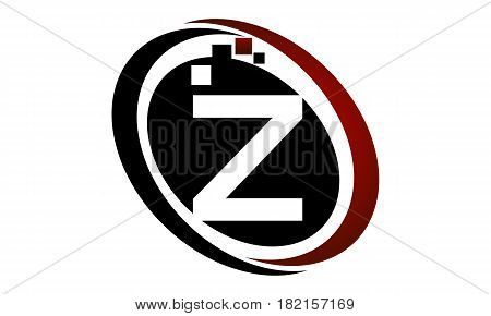 This vector describe about Technology Logo Motion Synergy Initial Z