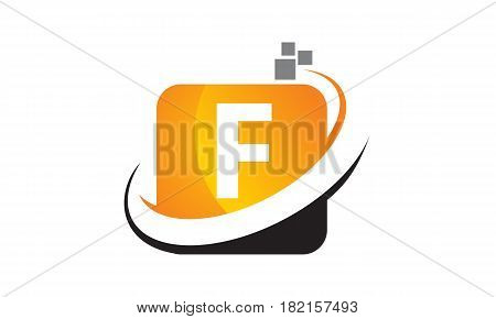 This vector describe about Technology Motion Synergy Letter F