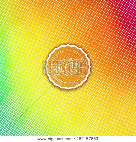 Colourful halftone background. High quality vector trace. Iridescent color