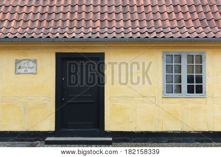 House and birth place of the storyteller Hans Christian Andersen in Odense, Denmark