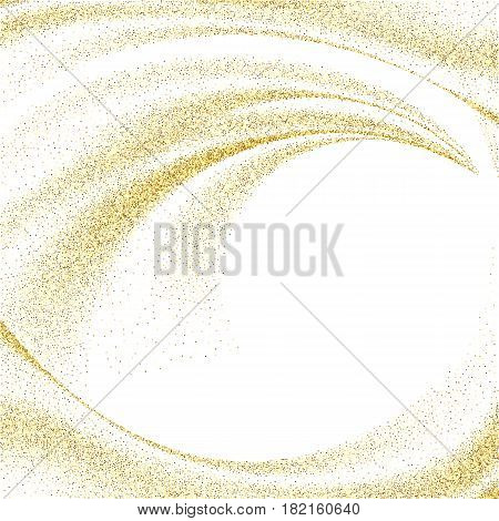 Abstract gold dust glitter star wave background, vector design template