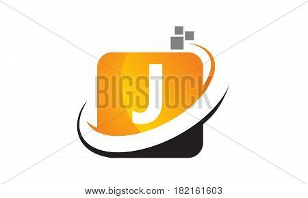 This vector describe about Technology Motion Synergy Letter J