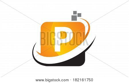This vector describe about Technology Motion Synergy Letter P