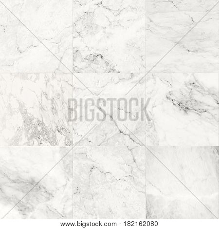 The luxury of white marble tiles texture and background, Can be used for creating abstract marble surface effect to your design art work.