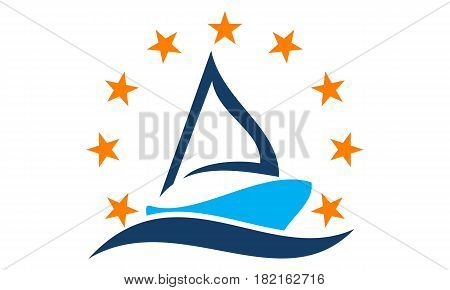 This vector describe about Ship Boat Solution Logo