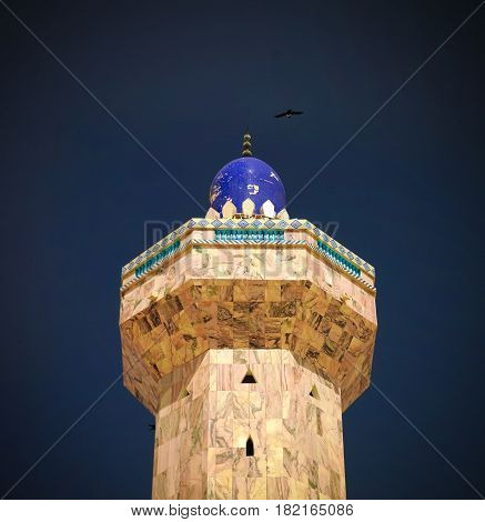 Minaret of Touba Mosque center of Mouridism and Cheikh Amadou Bamba burial place Senegal