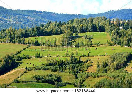 Landscape in Apuseni Mountains, Transylvania The Apuseni Mountains is a mountain range in Transylvania, Romania, which belongs to the Western Romanian Carpathians, also called Occidentali in Romanian. The Apuseni Mountains have about 400 caves.