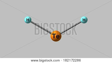 Hydrogen telluride is the inorganic compound with the formula H2Te. A hydrogen chalcogenide and the simplest hydride of tellurium. 3d illustration