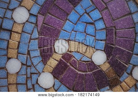 Texture with elements of color mosaic. Architectural background