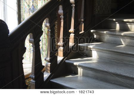 The stairs in the Mukhina Academy of Fine Arts poster