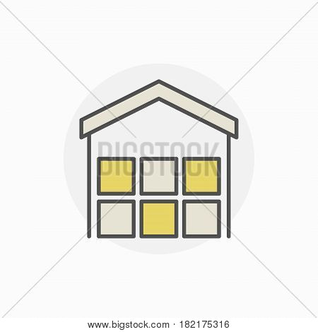 Freight warehouse icon - vector colorful creative symbol or design element
