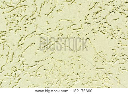 Yellow Color Plaster Wall Patten.