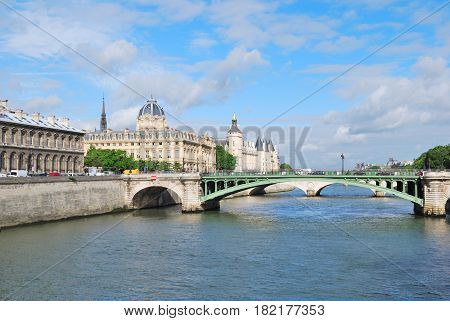 France. View of Paris in a sunny summer morning