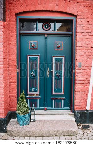 Front Door of a house in Ribe town Denmark
