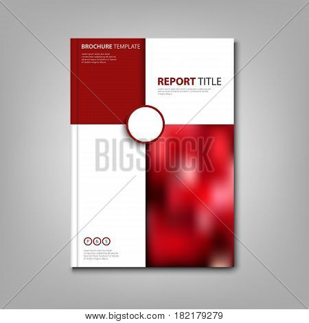 Brochures book or flyer with red and white pattern vector eps 10
