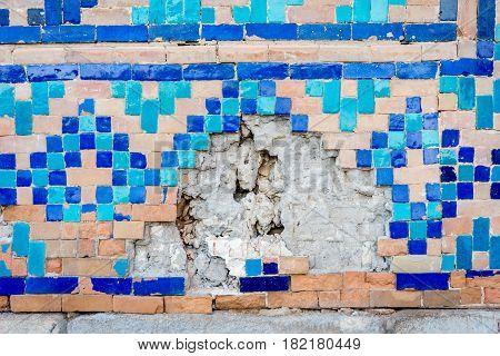 Wall Detail, Samarkand Registan, Uzbekistan