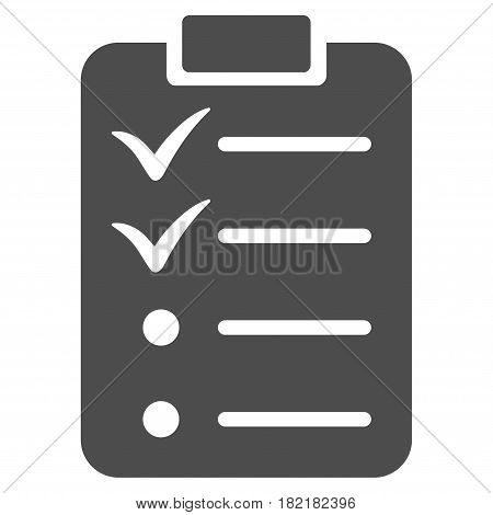 Todo List vector icon. Illustration style is a flat iconic gray symbol on a white background.