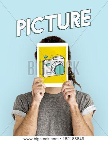 Digital camera illustration photography graphic