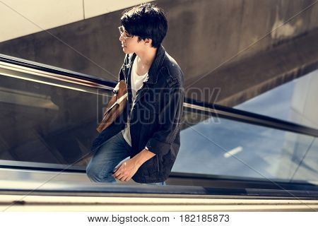 Asian Guy Casual Glasses Lifestyle