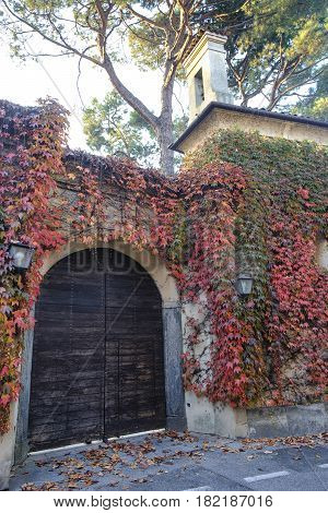 Albiate (Monza Brianza Lombardy Italy): exterior of the historic Villa Airoldi at fall