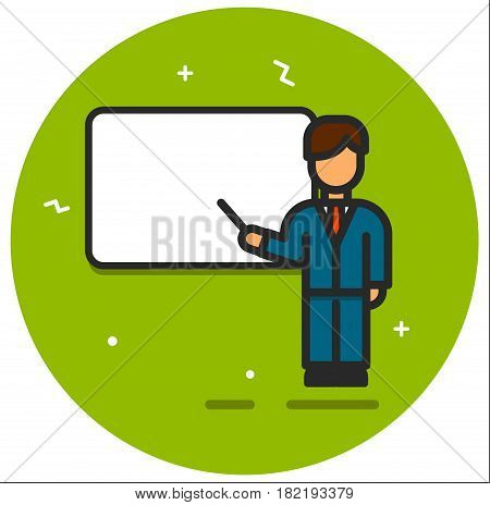 The business seminar and presentation illustration rasterized