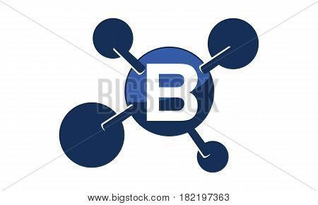 Synergy Logo connection Together Science Initial B