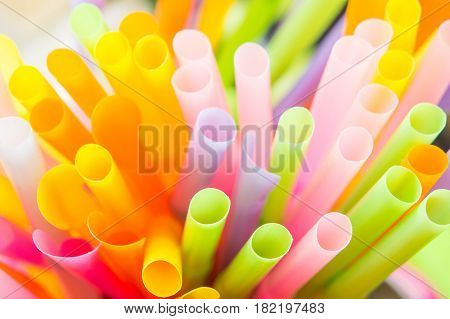 Straw colorful background , straw  object of drink