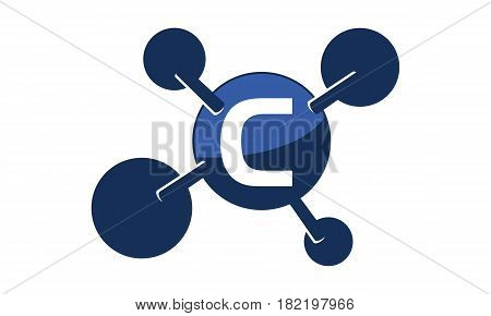 Synergy Logo connection Together Science Initial C