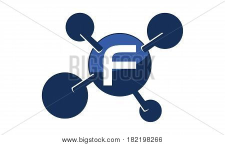 Synergy Logo connection Together Science Initial F