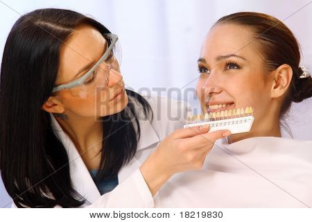 Comparing patient teeths