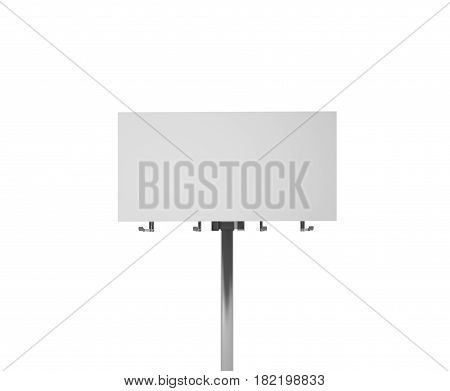Big And High Blank Billboard Isolated On White Background, Clipping Path Inside
