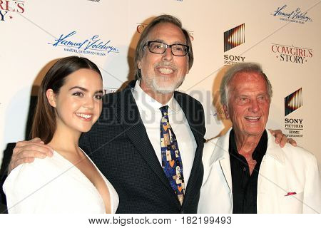 LOS ANGELES - APR 13:  Bailee Madison, Timothy Armstrong, Pat Boone at the