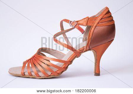 Women sandal for Latin dance. Bronce color