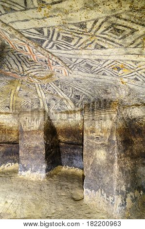 Colombia National Archaeological Park of Tierradentro is one great pre Columbian attractions. There are burial caves painted with red black and whte geometric patterns. Some are shallow others up to 8m deep