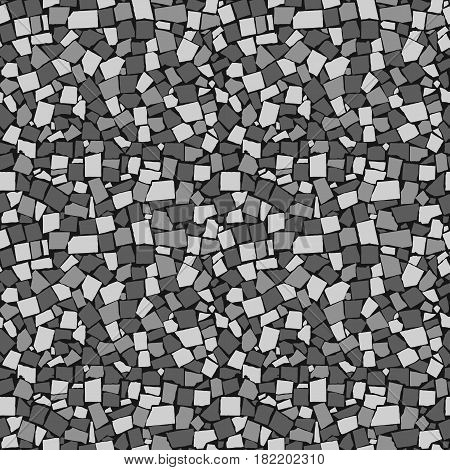 Seamless Texture Of Black And White Asymmetric Decorative Tiles Wall