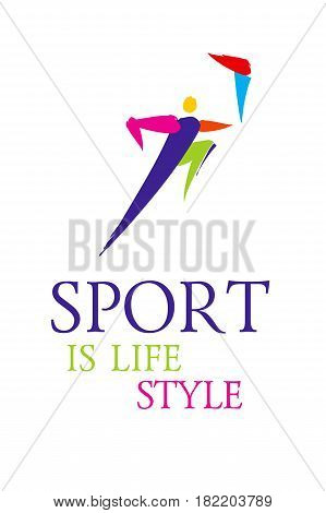 Vector Sport Colorful Stick Figure