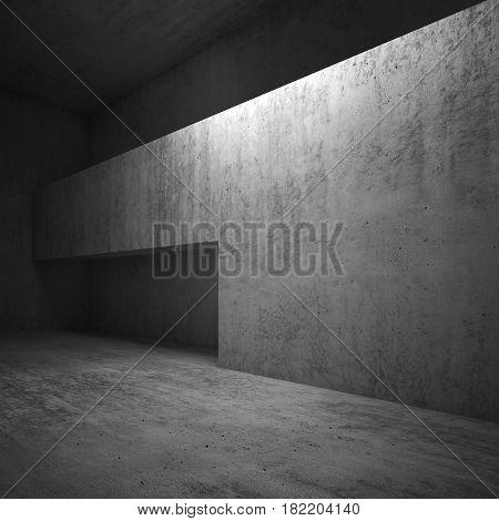 Doorway In Concrete Wall, Square 3D Render
