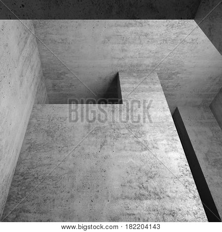 Abstract Empty Concrete Interior Fragment, 3D