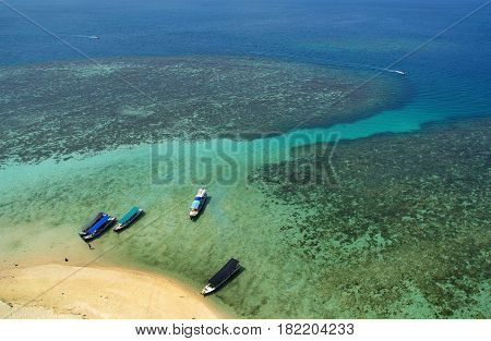 The beauty of the Lengkuas island, Belitung, Indonesia