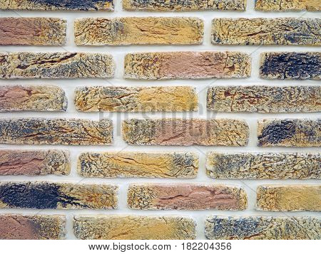 New Colorful Brick Wall Texture Grunge Background