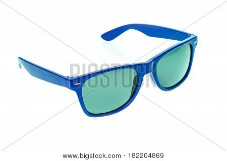 Color Children Sunglasses, Sun Shades Or Spectacles Isolated On White Background.